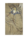 Profile of Woman: Jane Avril Giclee Print by Henri de Toulouse-Lautrec
