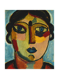 Blue Mouth Prints by Alexej Von Jawlensky