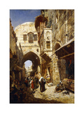 Davidstrasse, Jerusalem Posters by Gustave Bauernfeind