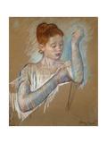 The Long Gloves Premium Giclee Print by Mary Cassatt