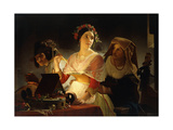 Preparing for the Ball Giclee Print by Jean Baptiste Lodewijk		 Maes