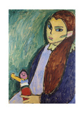 Girl with Doll Posters by Alexej Von Jawlensky