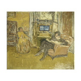 Study for a Portrait of Mr. and Mrs. Marcel Kapferer Posters by Edouard		 Vuillard