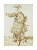 Portrait of the Castrato Gaetano Caffarelli Print by Pier Leone Ghezzi