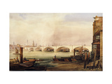 London Bridge Prior to Completion in 1831 Giclee Print by George Belton		 Moore