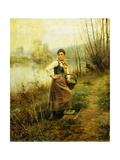 Country Girl Giclee Print by Daniel Ridgway		 Knight