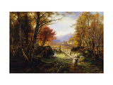 Changing Pastures, Evening Posters van Joseph Farquharson