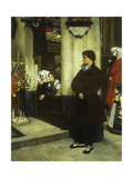 Pendant L'Office (Martin Luther's Doubts) Print by James Tissot