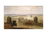 View from the Round Tower, Windsor Castle Giclee Print by Daniell William