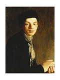A Youth, half length, wearing a Black Hat and a Neckscarf Giclee Print by Glyn Warren		 Philpot