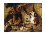 A Courtyard in the Olden Time Prints by Sir Edwin Henry		 Landseer