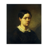 Portrait of Madame J. F. Millet (Catherine Lemaire) Giclee Print by Jean-François Millet
