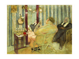Sacha Guitry (1885-1957) in his Dressing Room Giclee Print by Edouard		 Vuillard