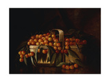 A Basket of Cherries Giclee Print by Richard la Barre Goodwin