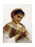 A Breton Girl Prints by William Adolphe Bouguereau