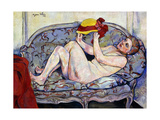 Nude Reaching on a Sofa Giclee Print by Suzanne		 Valadon