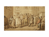 Street Musicians Giclee Print by Rowlandson Thomas