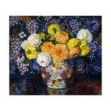 Vase of Flowers Poster by Theo Rysselberghe