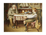 The Game of Draughts Giclee Print by Henry Spernon		 Tozer