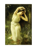 A Nymph in the Forest Print by Charles Amable		 Lenoir