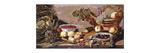 Bowls of Cherries and Blackberries Premium Giclee Print by Robert Baudous