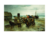 Hauling a Ship Giclee Print by Henry		 Bacon