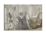 The Bishop and Death Prints by Thomas		 Rowlandson