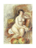 Nude Woman Sitting with Apples Prints by Pierre-Auguste		 Renoir
