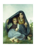 L'Abri Giclee Print by William Adolphe Bouguereau