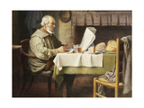 Reading the News Giclee Print by Henry Spernon		 Tozer