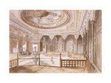 An Interior of a Palace at Uyne Posters by Jules Joseph Augustin		 Laurens