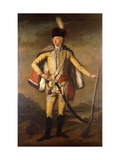 Portrait of John Lindsay, 20th Earl of Crawford and Lindsay in Hussar Uniform Giclee Print by  Scottish School