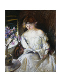 Girl Reading Posters by Edmund Charles		 Tarbell