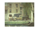 The Peddler's Cart on the Canal, New Hope Giclee Print by Robert C.		 Spencer
