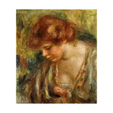 Profile of Andree with Head Bowed Prints by Pierre-Auguste		 Renoir
