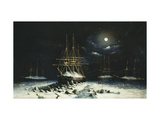 H.M.S Resolute, Assistance, Intrepid and Pioneer wintering in the Arctic, 1850-51 Premium Giclee Print