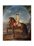 An Equestrian Portrait of Francis, Duke of Lorraine (1708-1769), later Emperor Francis I of Austria Giclee Print by Franceso		 Liani