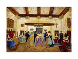 Colonial Meeting Giclee Print by Pedro		 Figari