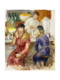 Study for 'The Soda Fountain' Giclee Print by William James		 Glackens