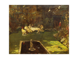 The Garden at Ardilea Print by Sir John		 Lavery