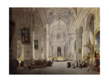 The Interior of the Church of St. Sulpice, Paris Giclee Print by John Scarlett		 Davis