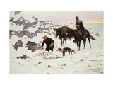 The Frozen Sheepherder Prints by Frederic Sackrider Remington