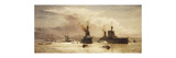 The First Battle Squadron leaving the Forth for the Battle of Jutland Premium Giclee Print by William Lionel		 Wyllie