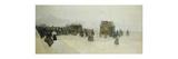 Place de la Concorde et le Palais Bourbon Premium Giclee Print by Luigi Loir