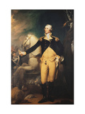 Portrait of General George Washington (1732-1799) at the Battle of Trenton Print by Muller Robert