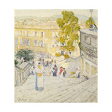 The Spanish Steps of Rome Giclee Print by Childe Hassam