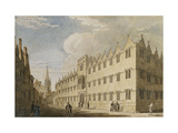 Oriel College, Oxford, with St. Mary's Church in the Distance Giclee Print by Thomas		 Malton II