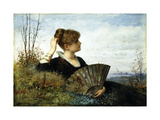 The Fan Giclee Print by James Wells		 Champney