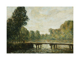 Petit Pont sur l'Orvanne Poster by Alfred		 Sisley