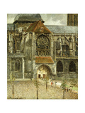 The Portal of the Church Saint-Jacques at Dieppe Giclee Print by Camille Pissarro